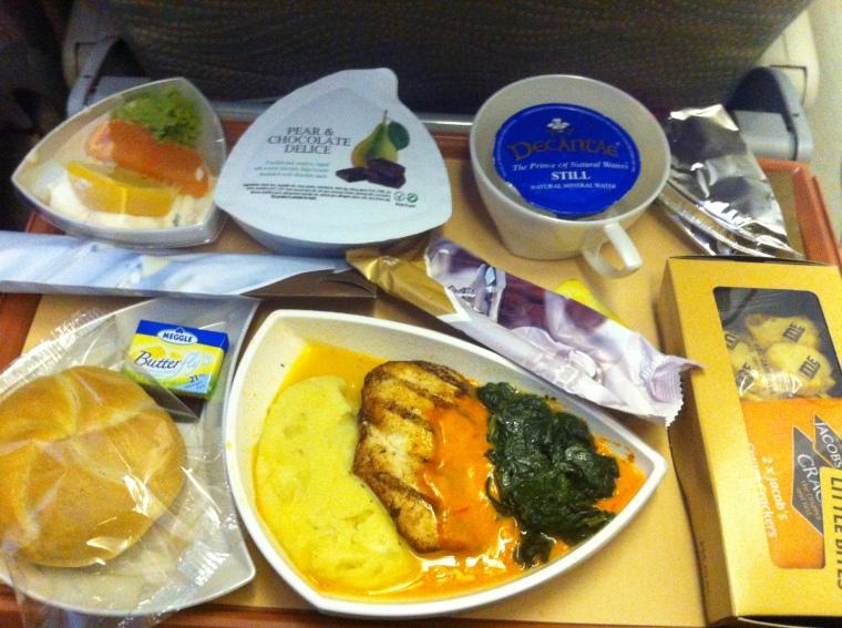eins der teilweise 2 Menüs auf einem Flug bei Emirates. Es hat mir gut geschmeckt =)